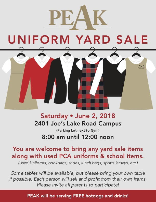 20180602 uniform yard sale